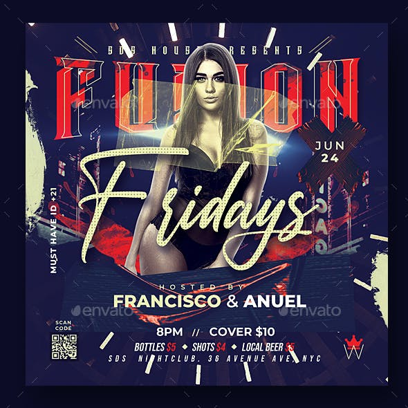 Fusion Fridays Flyer Template