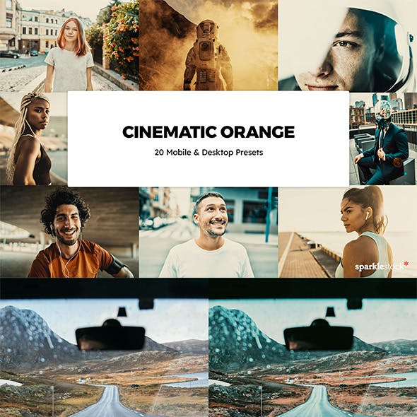 20 Cinematic Orange Lightroom Presets & LUTs