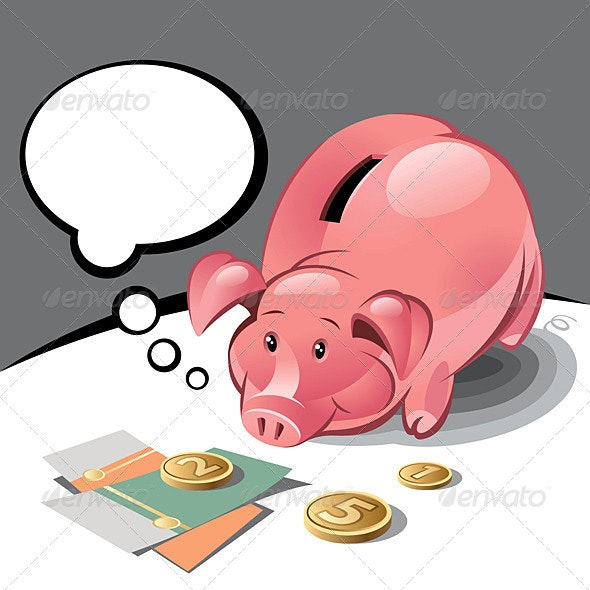 Piggy Bank  - Concepts Business