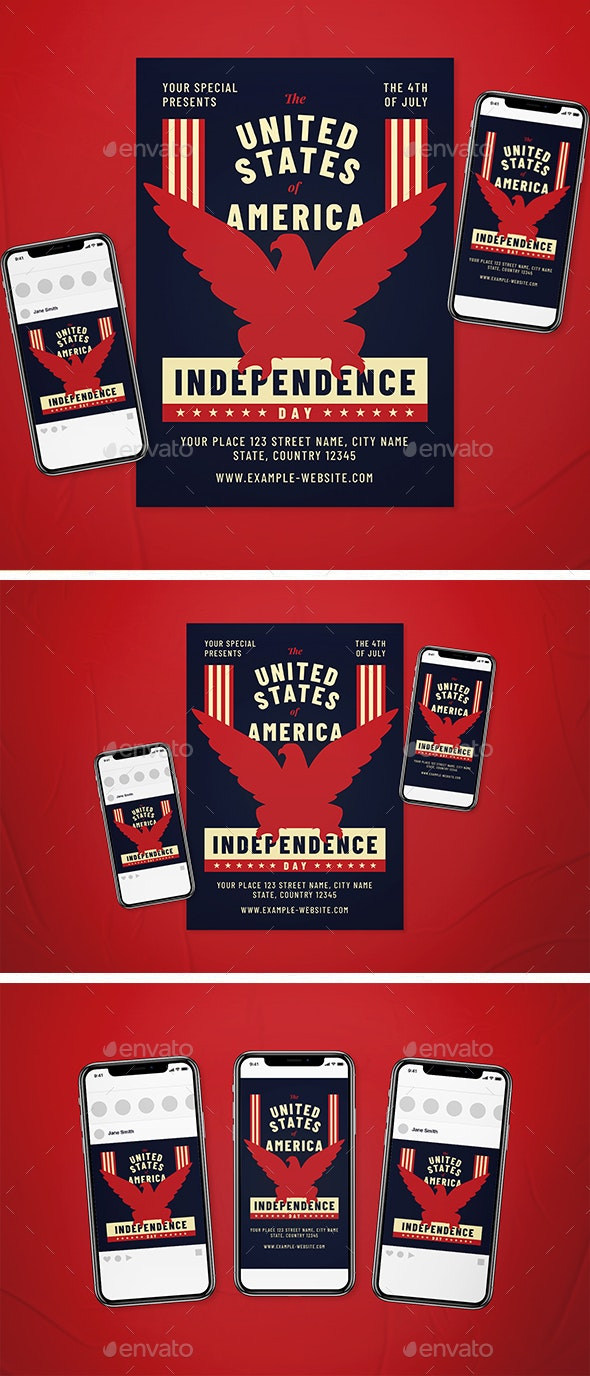 Independence Day Flyer Set - Holidays Events