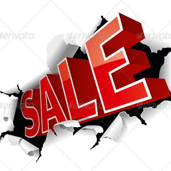 """""""Sale"""" Inscription"""
