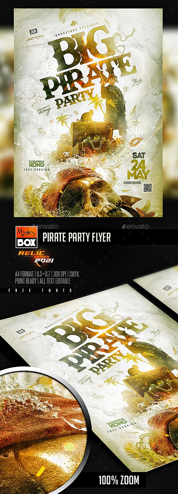 Pirate Party Flyer - Events Flyers