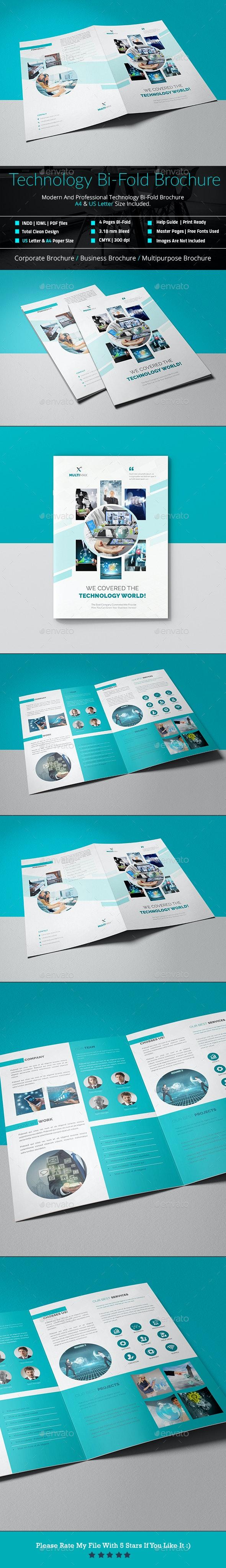 Bi-Fold Technology Brochure - Brochures Print Templates