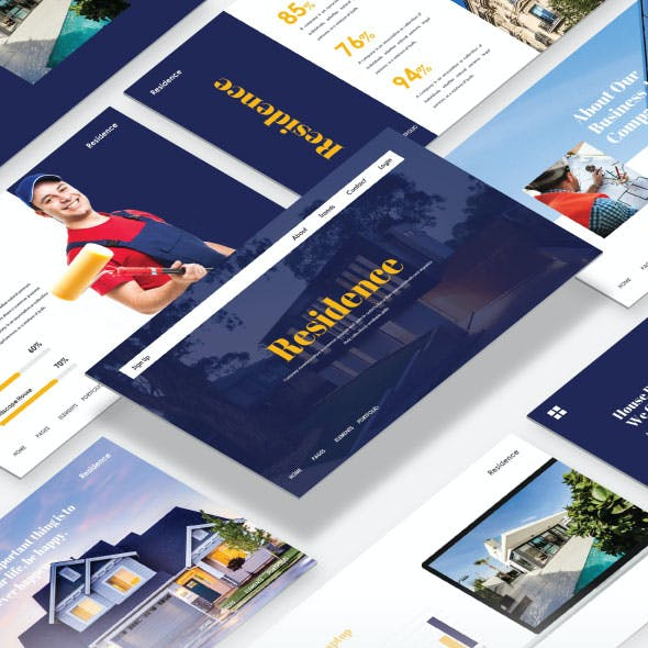 Residance - Real Estate PowerPoint Template