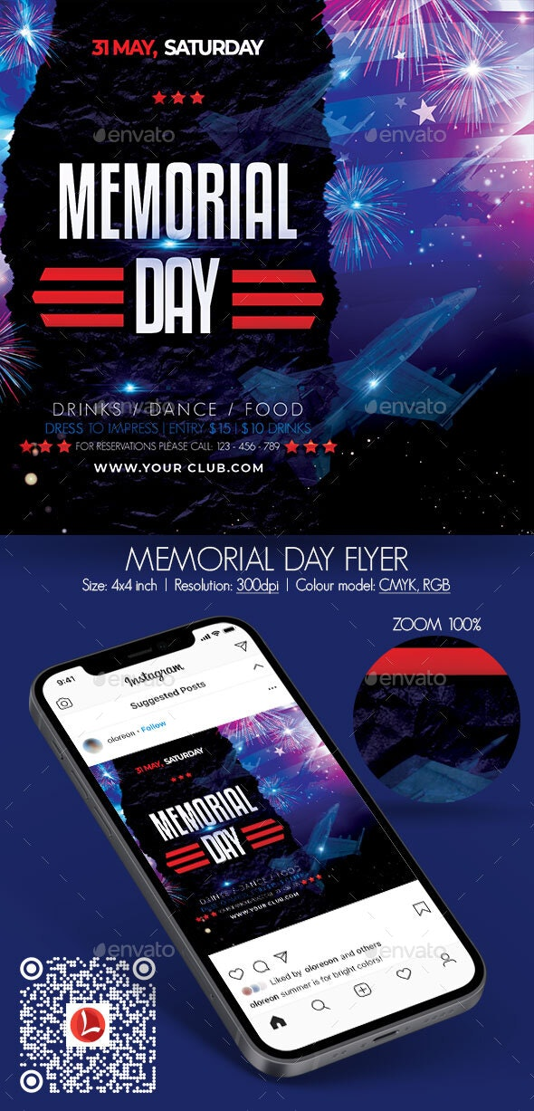 Memorial Day Flyer - Holidays Events