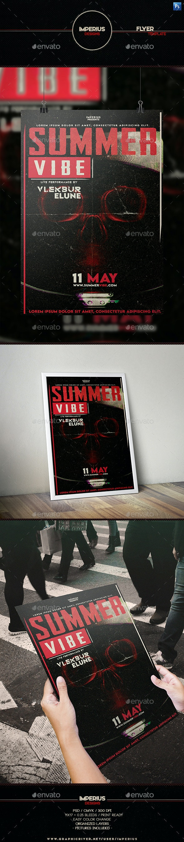 Summer Vibe Flyer - Events Flyers