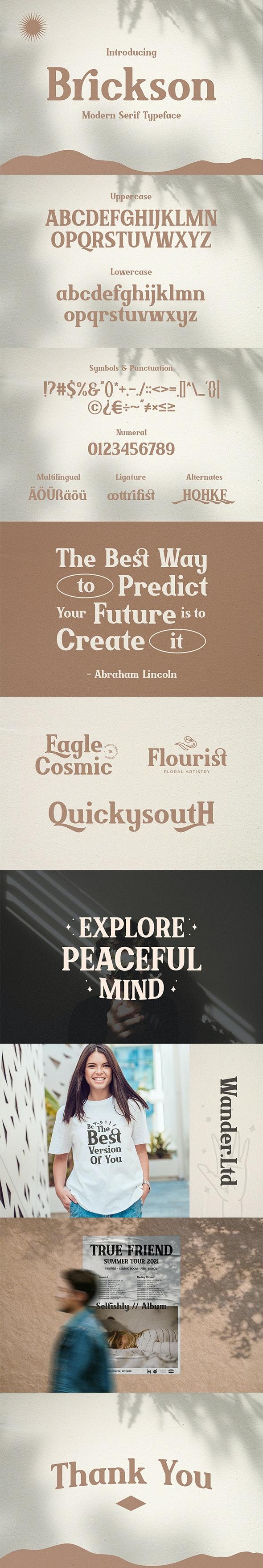 Brickson - Elegant Modern Serif - Serif Fonts