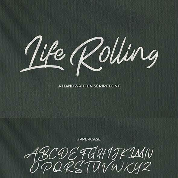 Life Rolling - Handwritten Script Font