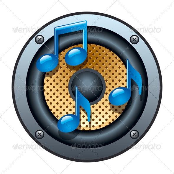 Audio Speaker Icon - Miscellaneous Vectors