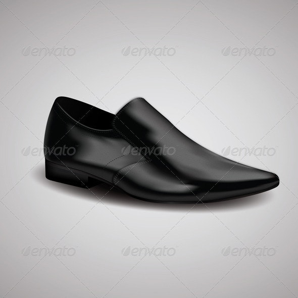 Business Man Vector Shoe - Objects Vectors