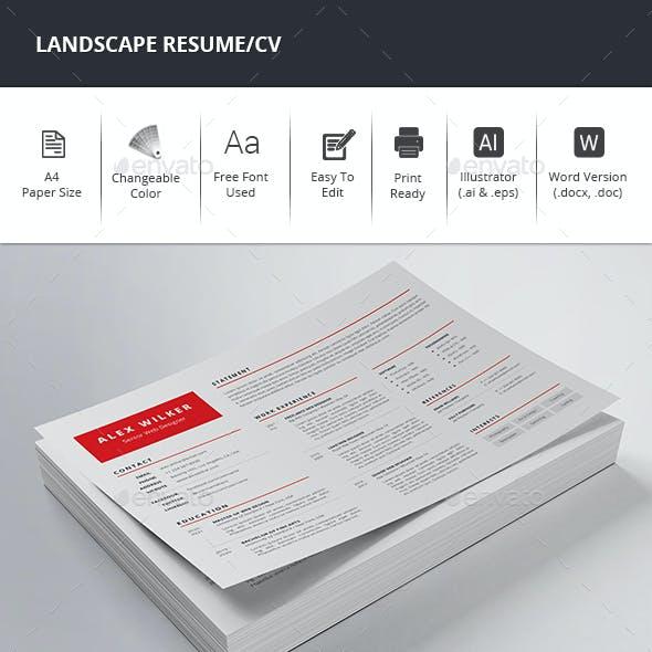 Landscape Resume/CV