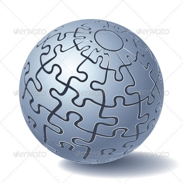 Jigsaw Puzzle Sphere - Man-made Objects Objects