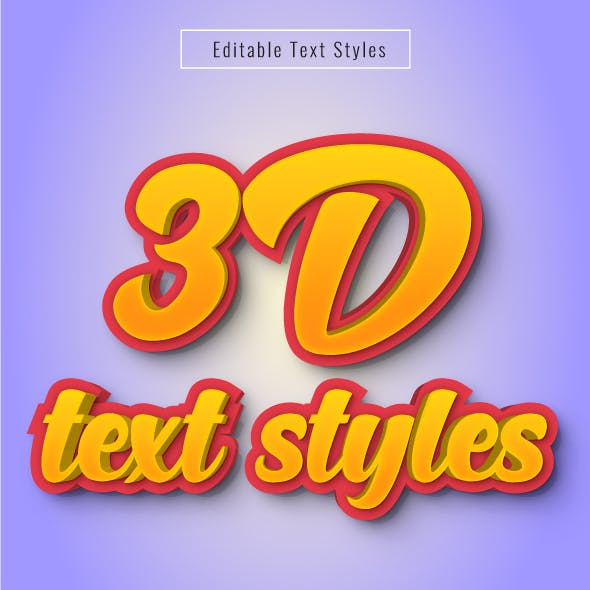 """This is """"Editable 3D Text Effects"""" for Illustrator"""