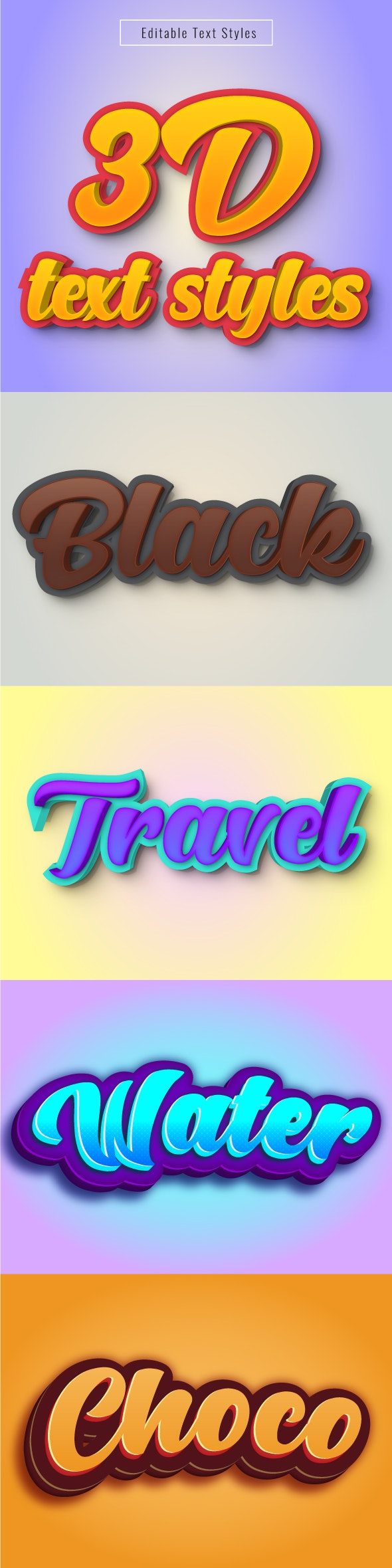 "This is ""Editable 3D Text Effects"" for Illustrator - Illustrator Add-ons"