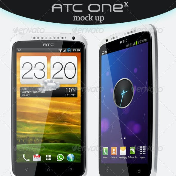 ATC One X Smartphone Mock Up