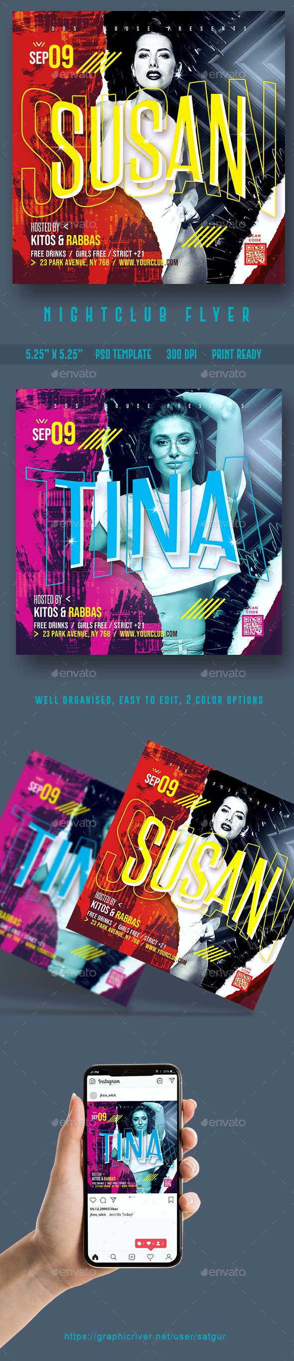 Night Club Flyer Template  PSD - Clubs & Parties Events