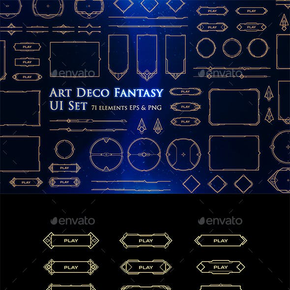Art Deco Fantasy UI Set