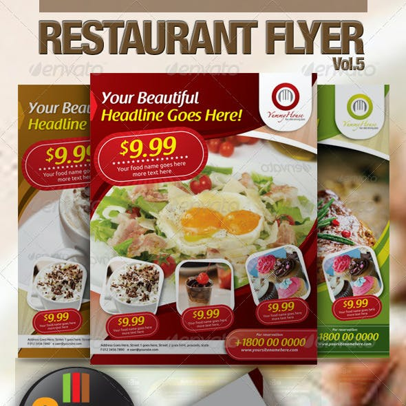 Restaurant Flyer Vol.5