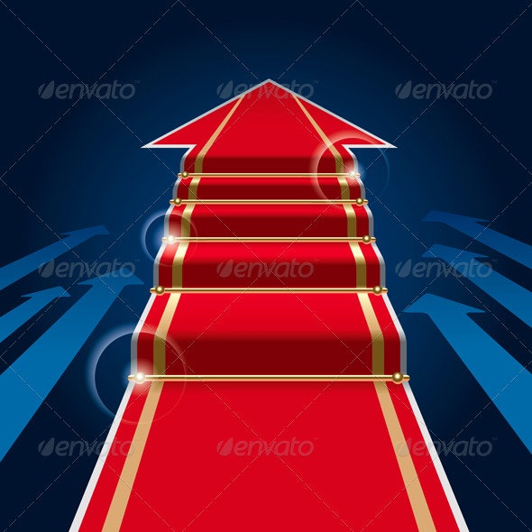 Red Carpet Arrow - Concepts Business