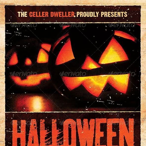 Pumpkin Head - Halloween Flyer Template