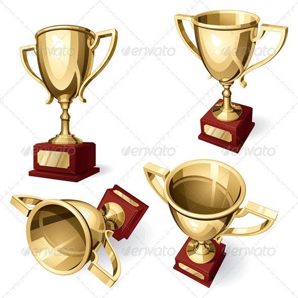 Sport Cup. Set of Four Views - Sports/Activity Conceptual