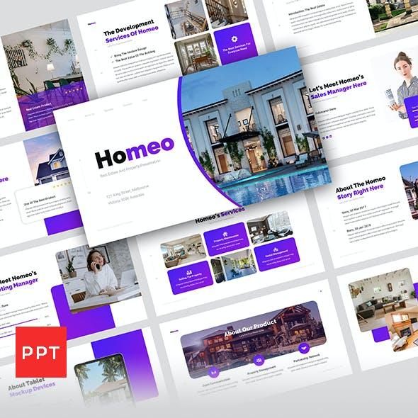 Homeo - Real Estate Presentation Templates