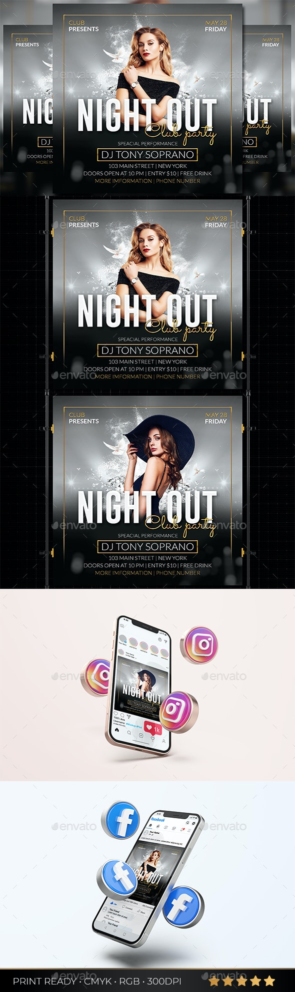 Club Party Flyer - Events Flyers