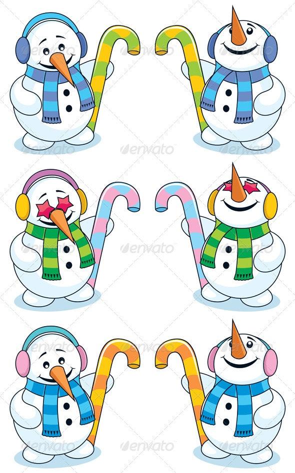 Little Snowman 2 - Characters Vectors