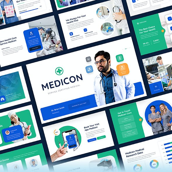 Medicon - Medical & Healthcare PowerPoint Presentation Template