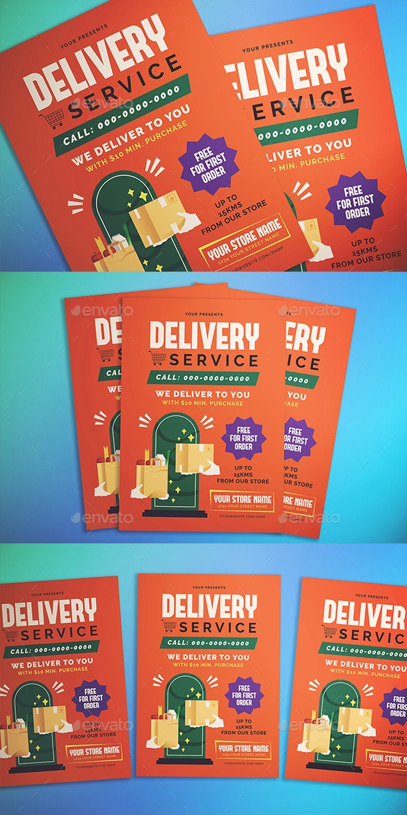 Delivery Service Flyer - Flyers Print Templates