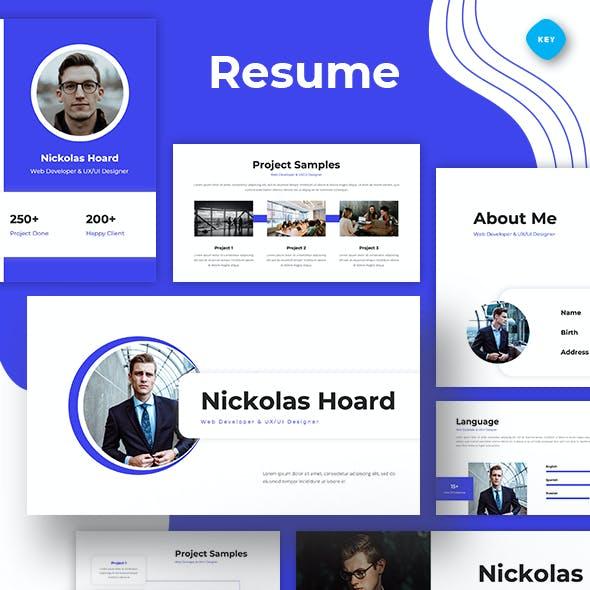 Resume Web Developer & UI/UX Designer Keynote