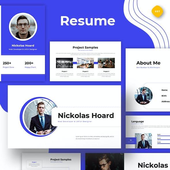 Resume Web Developer & UI/UX Designer Google Slides Google Slides