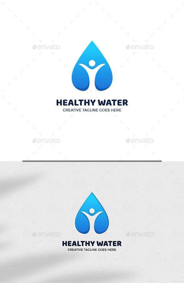 Healthy Water Nature Environment Logo Template - Nature Logo Templates