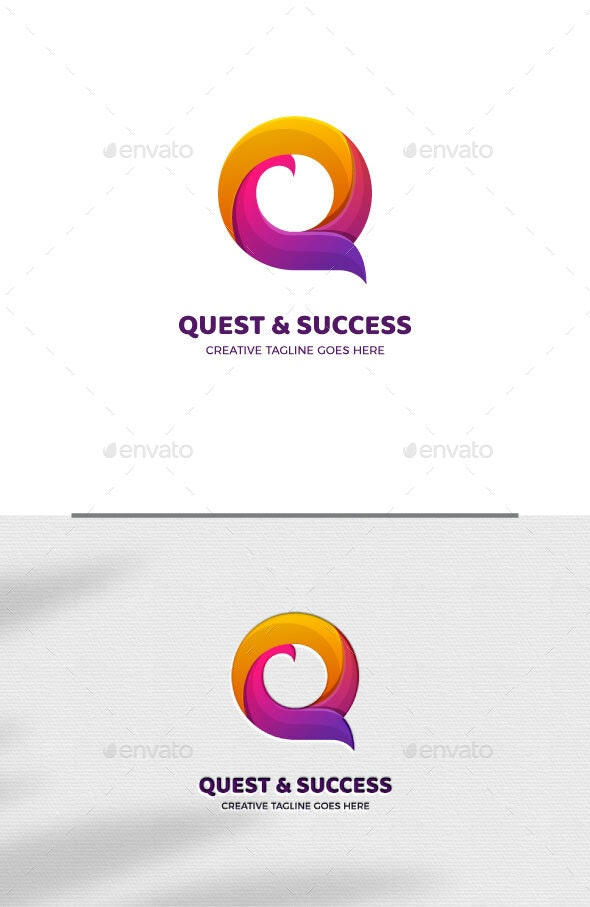 Abstract Letter O Gradient Logo Template - Abstract Logo Templates