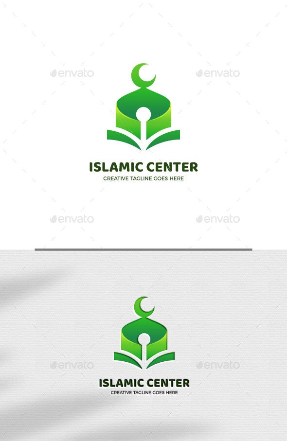 Green Mosque Islamic Logo Template - Objects Logo Templates