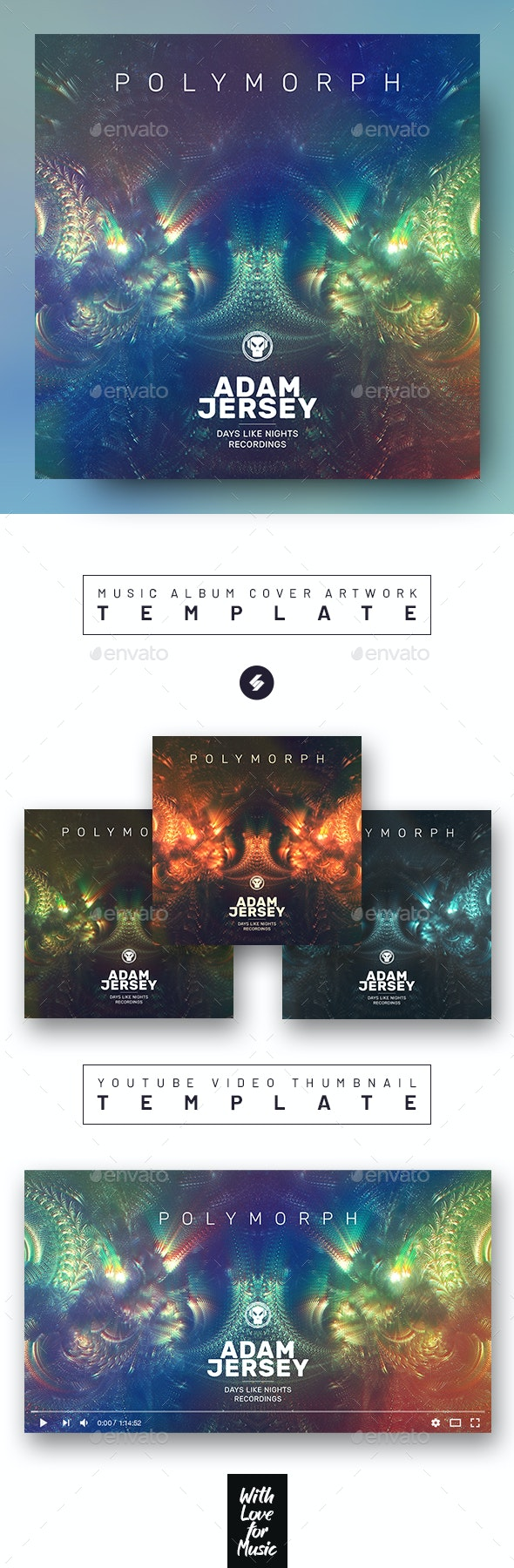 Polymorph – Music Album Cover Artwork / Video Thumbnail Template - Miscellaneous Social Media