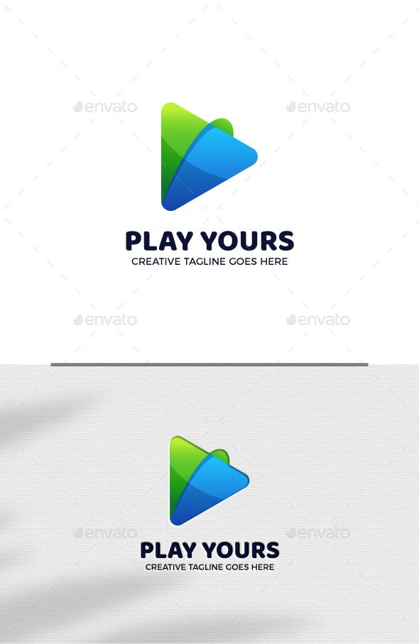 Play Button Logo Template - Objects Logo Templates