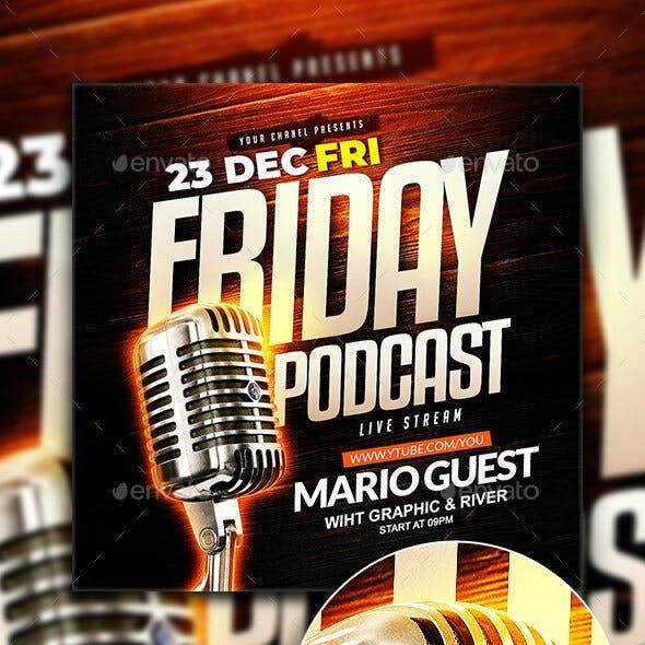 Friday Podcast Flyer