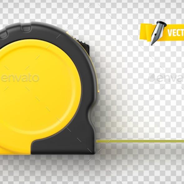 Vector Realistic Tape Measure