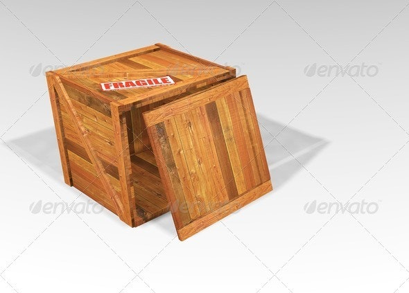 Wooden crate - Objects 3D Renders