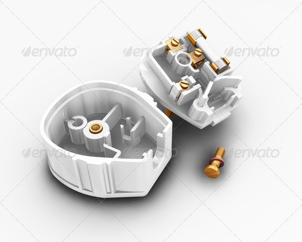 Dismantled plug - Technology 3D Renders