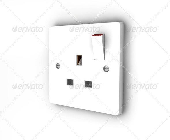 Plug socket - Technology 3D Renders