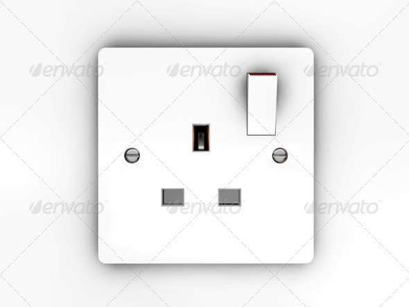 Plug socket - Technology 3D Renders