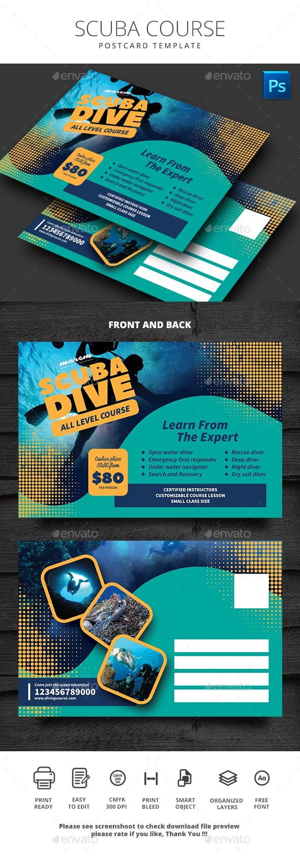 Scuba Diving Postcard - Cards & Invites Print Templates