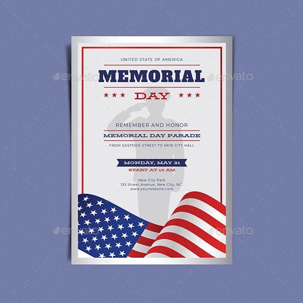 Memorial Day Remember & Honor Flyer