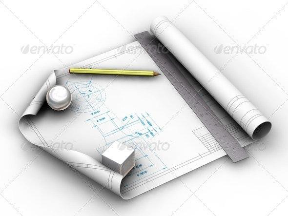 Blueprints - Objects 3D Renders