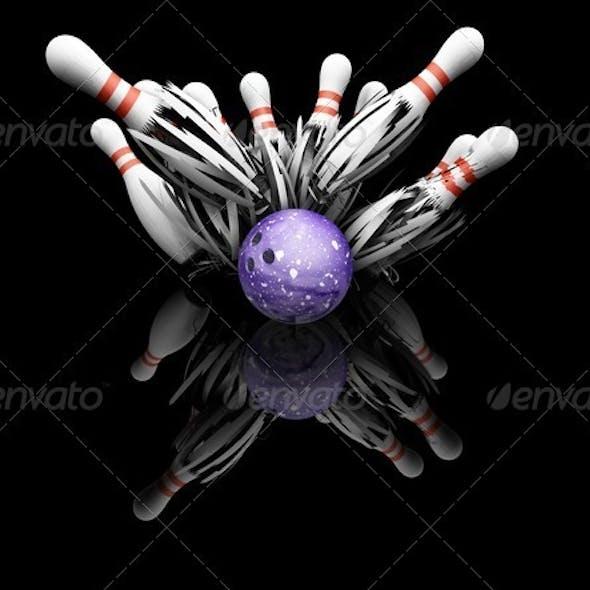 Ten pin bowling smash