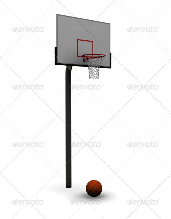 Basketball with net - Objects 3D Renders