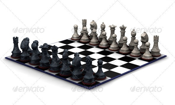 Chess set - Objects 3D Renders