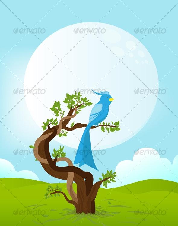 Moon bird - Animals Characters